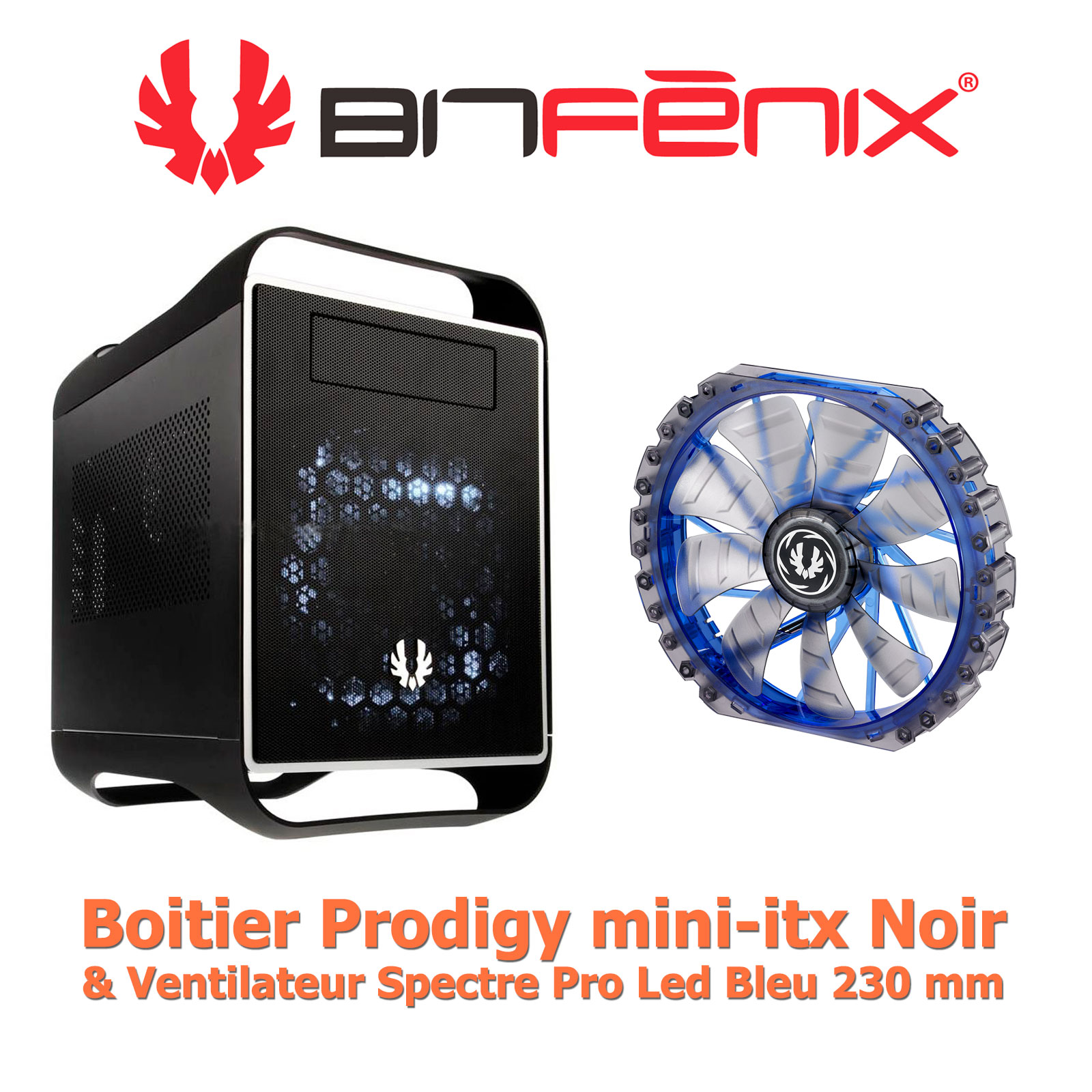 BitFenix Prodigy Dark and Silver